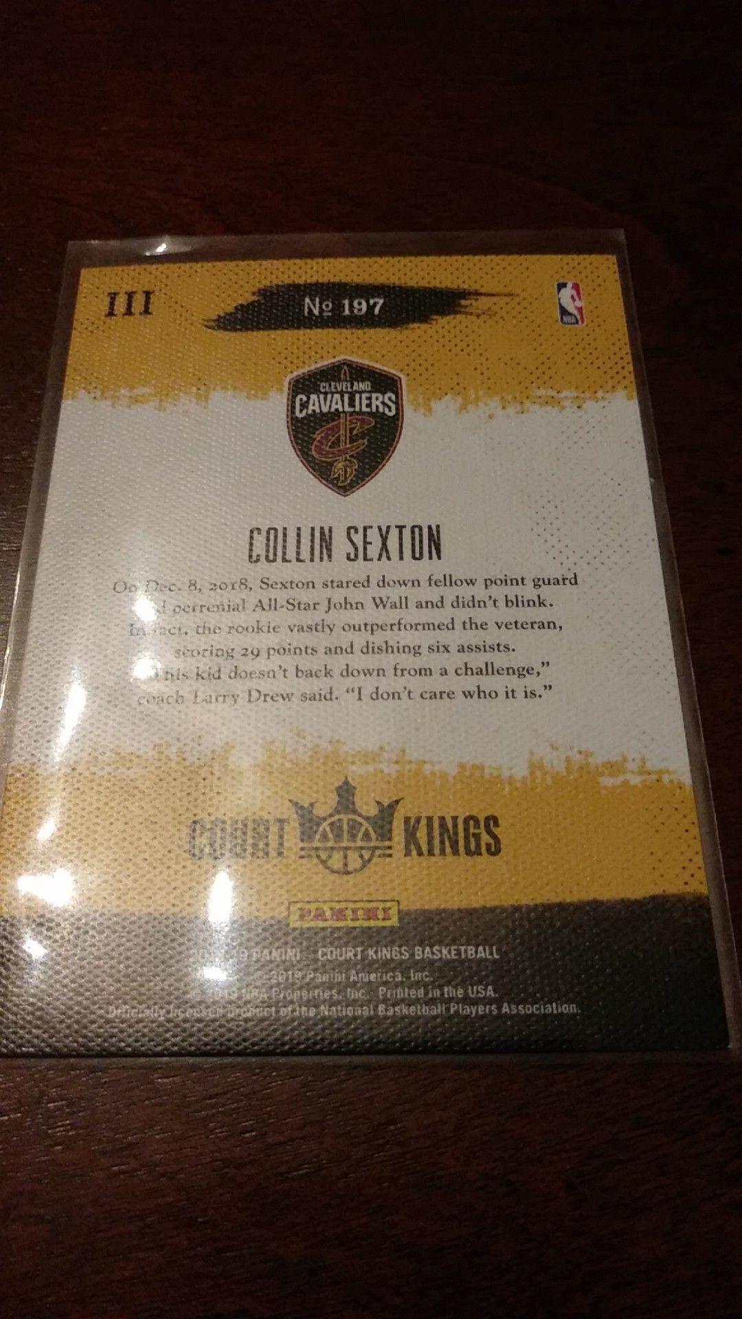 Collin Sexton panini court kings level III Rookie