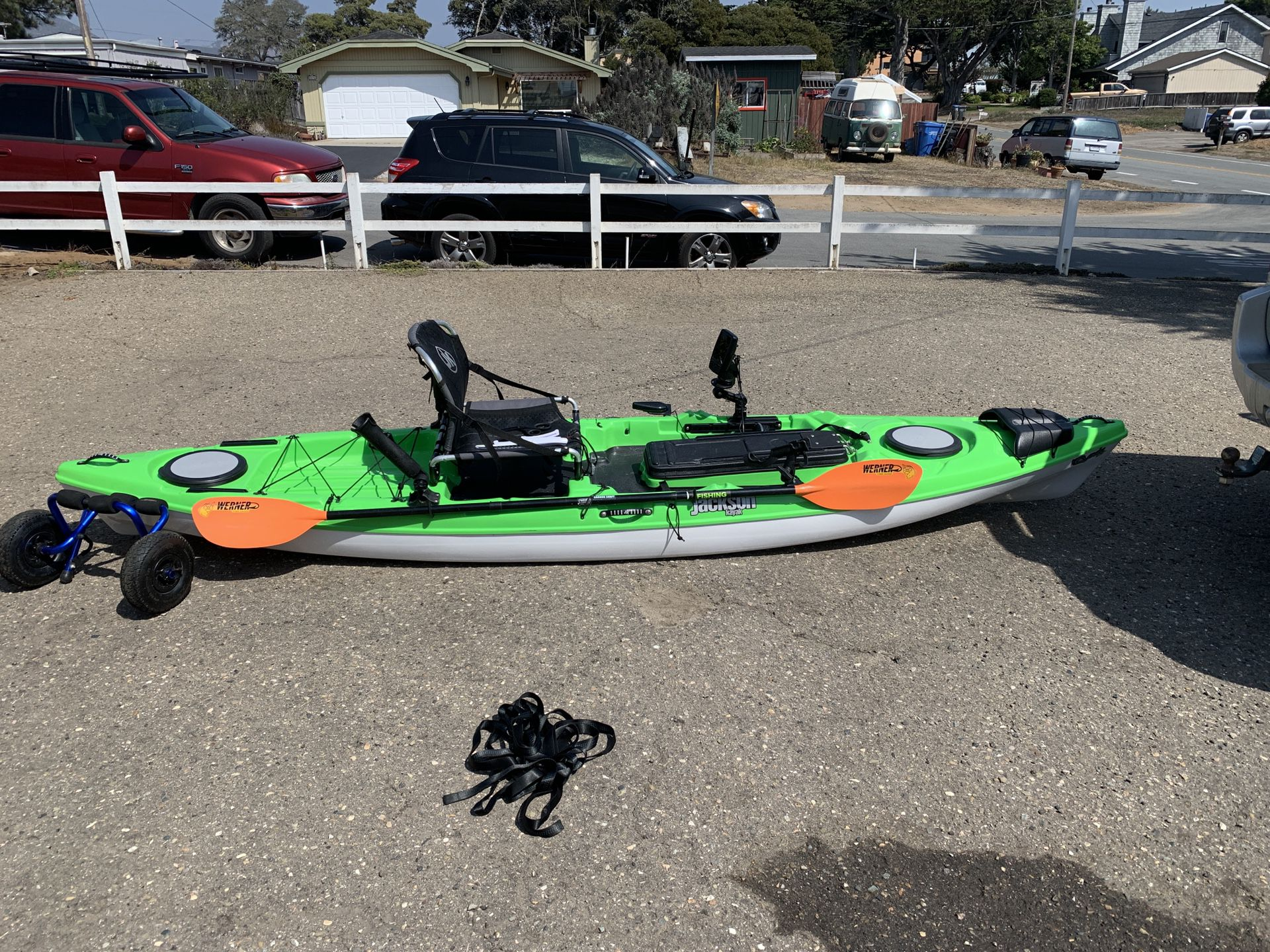 Photo Kayak, 12 6 Jackson Kayaks Cuda LT Ocean Kayak with all the fixins