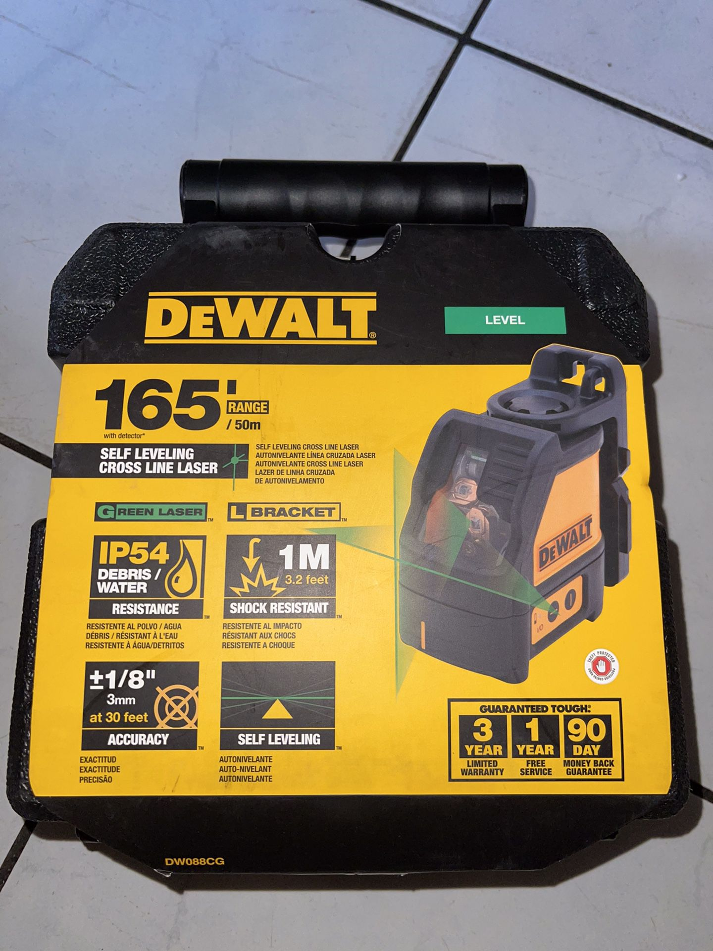 Dewalt Self Leveling Cross Line Green Laser (brand New Nuevo )…$165 Price Firm