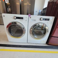 Ge 24inche Front Load Washer And Electric Dryer Set Used In Good  Condition With 90day's Warranty  Thumbnail