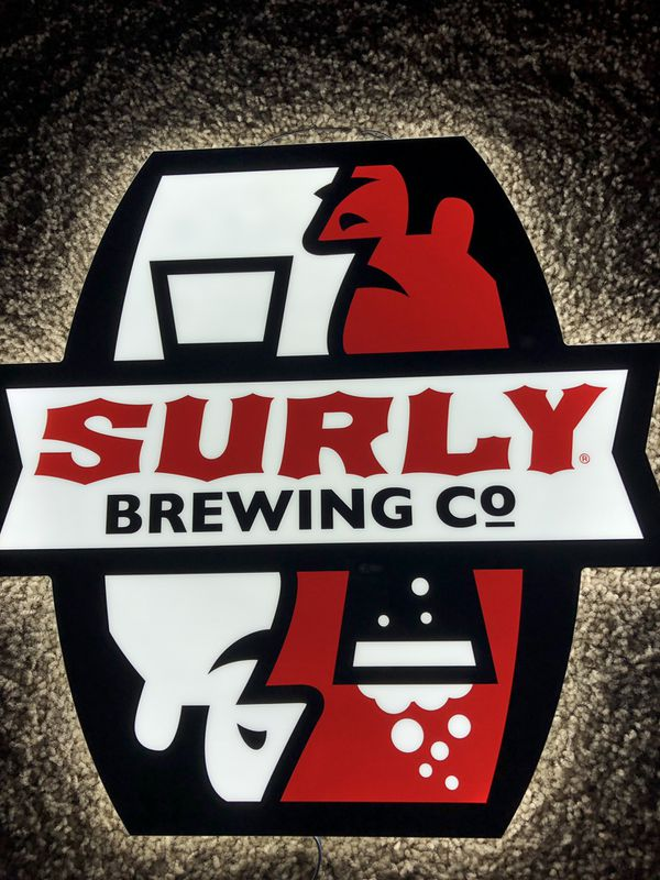 New in box surly brewing led lighted beer sign made in the