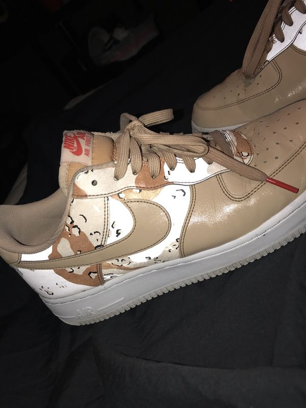 Nike Air Force 1's Desert Camo SIZE (Clothing & Shoes) in San