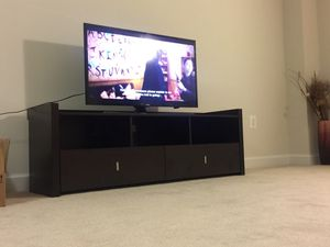 Like New:Dark Brown TV Stand for Sale for Sale in Washington, DC