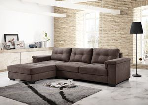 Brown Sectional sofa couch L shape for Sale in Baltimore, MD
