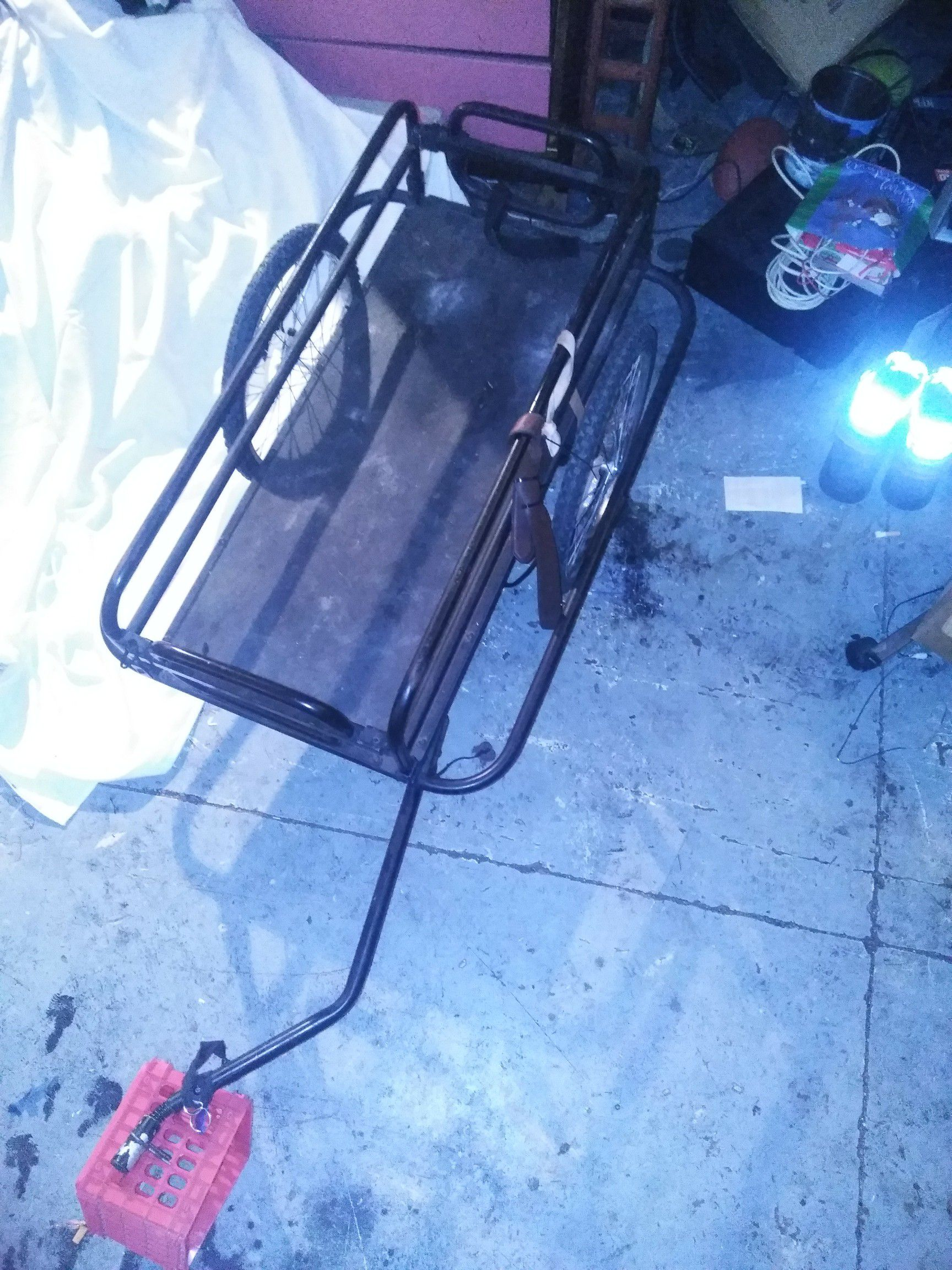 Action Bike Trailer durable and built to carry everything. Make a reasonable offer! please look into the value of the trailer before your offer