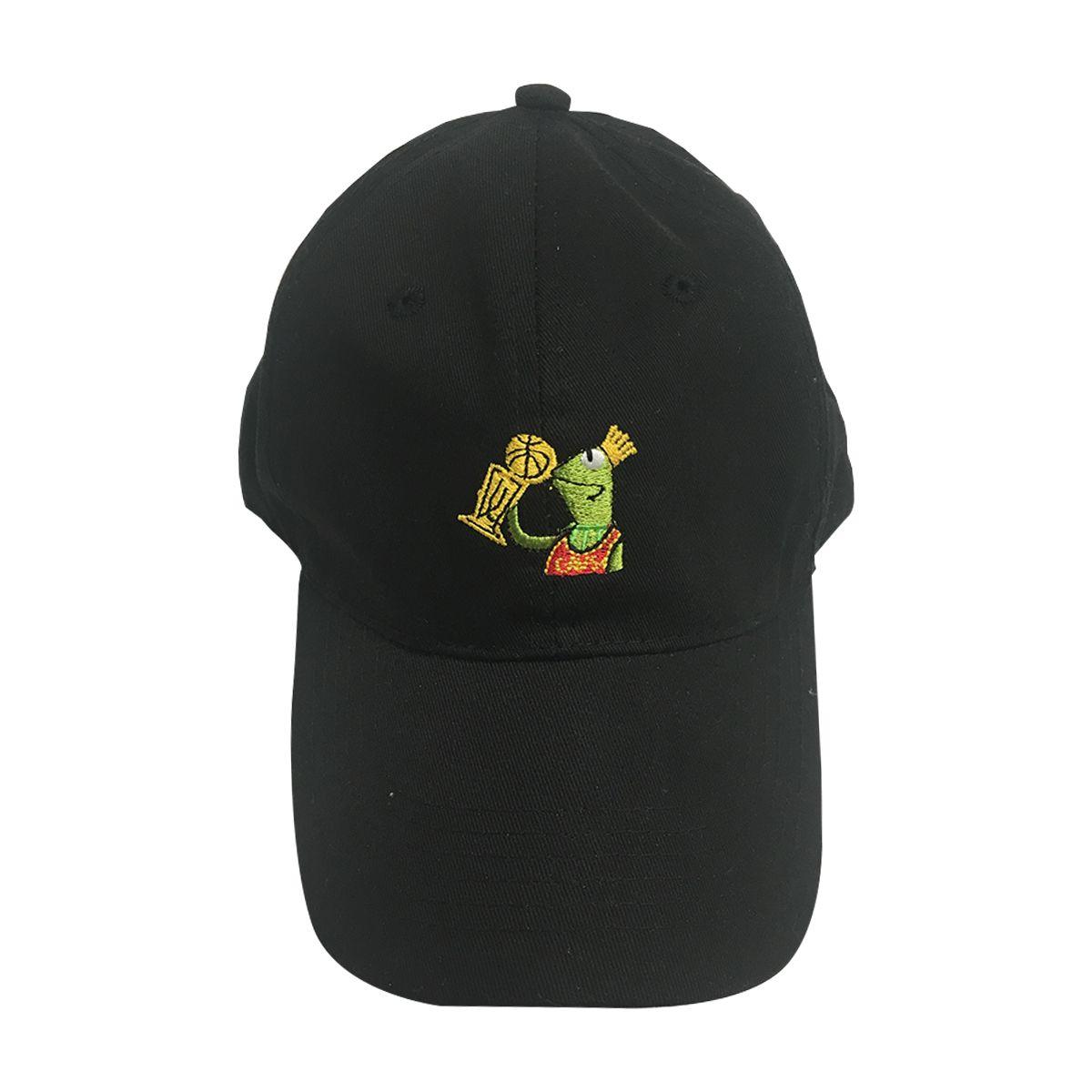 Kermit Kissing Trophy But That's None Of My Business Black Hat Lebron James Cap