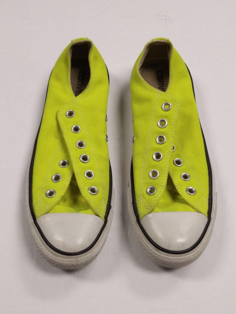 Lime green Converse sz 9