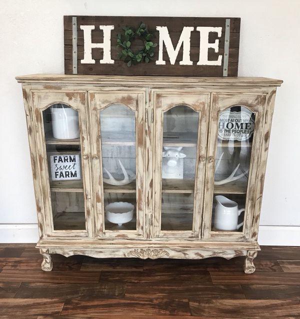 Rustic Farmhouse Curio Cabinet For Sale In Riverbank Ca Offerup