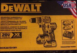 Dewalt Brushless hammer drill / impact driver combo kit for Sale in Durham, NC