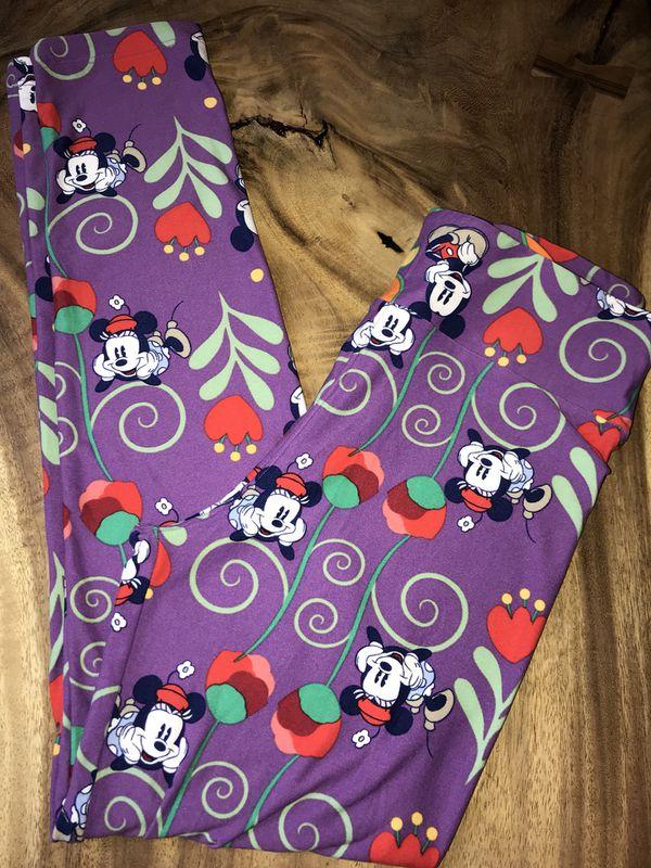 d7ff26fab8058f Lularoe Disney OS Floral Mickey & Minnie Leggings New for Sale in ...