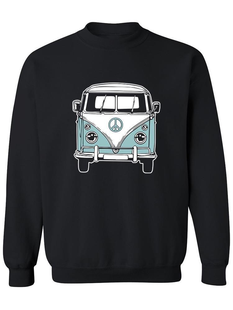 Smartprints Cool Retro Van Sweatshirt Women's -GoatDeals Designs Black Size 5XL