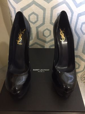 YVES SAINT LAURENT WOMEN blue SHOES 38 1/2 for Sale in Miami, FL