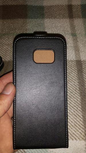 Galaxy s7 Leather flip case, black for Sale in Murfreesboro, TN