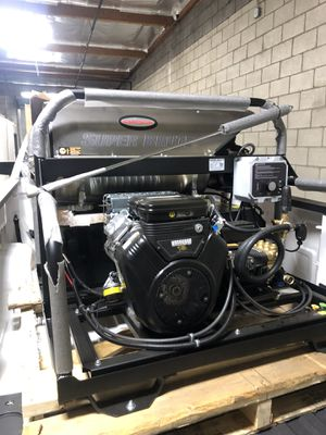 Photo Simpson SB3555 Super Brute Professional 3500 PSI (Gas-Hot Water) Pressure Washer w/ Vanguard Engine & Electric Start