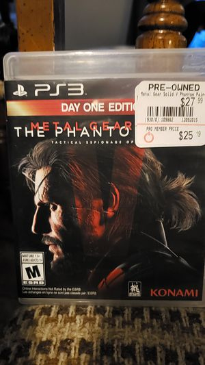 Metal gear solid V phantom pain ps3 for Sale in Aurora, IL