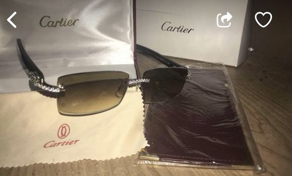 b560ffca04 Brand new authentic iced out Cartier glasses for Sale in Detroit