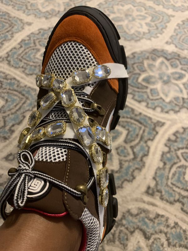 91b291e9666 Gucci Flashtrek sneaker with removable crystals for Sale in Durham ...