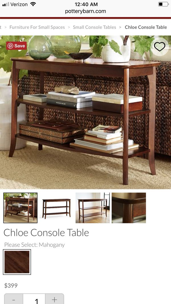 Pleasant Pottery Barn Chloe Console Table For Sale In Katy Tx Offerup Machost Co Dining Chair Design Ideas Machostcouk