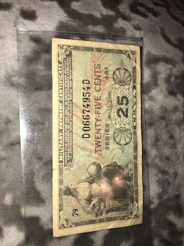 Old Military Currency Series 481 Collectibles In Spartanburg Sc