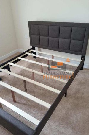 Brand New Queen Size Brown Linen Upholstered Platform Bed Frame for Sale in Silver Spring, MD