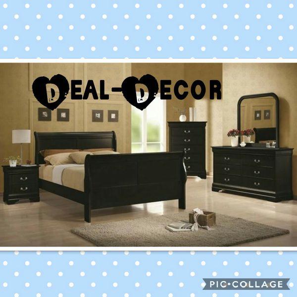 Black Or Cherry 4 Piece Bedroom Set For Sale In Atlanta