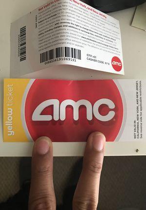 free AMC movie tickets (2x) for Sale in Bristow, VA