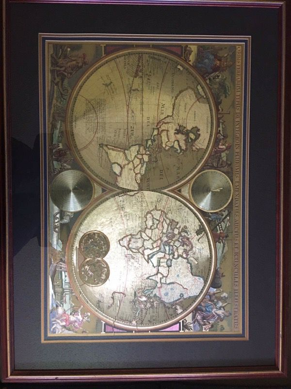 Double hemisphere gold foil world map collectibles in deerfield double hemisphere gold foil world map collectibles in deerfield beach fl offerup gumiabroncs Images