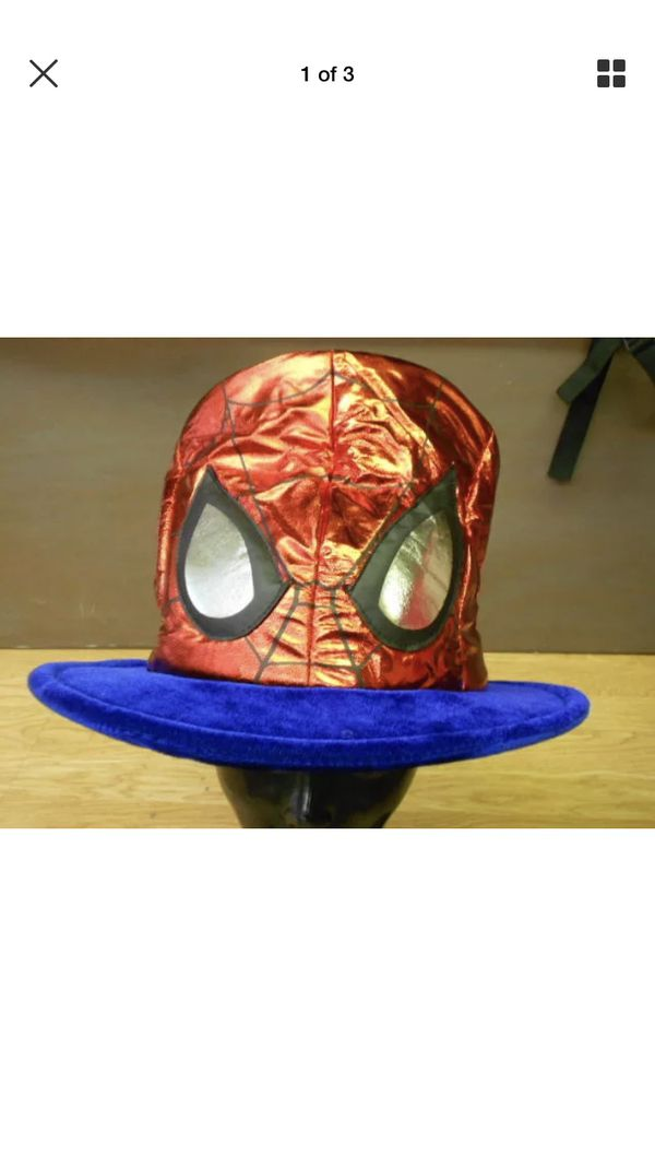 db0e02311c404 Marvel The Avengers Red Shiny Lame SPIDER-MAN Mask MAD HATTER Costume Top  Hat for Sale in Milwaukie