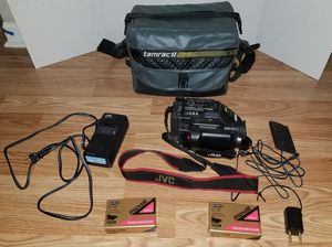 JVC GR-AX7BKU compact vhs c camcorder 6x zoom black for Sale in Chantilly, VA