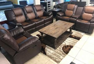 Brand New Brown Two Tone Recliner Living Room Set for Sale in Pompano Beach, FL