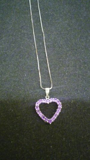 14k white gold necklace with 14k white gold heart pendant for Sale in Las Vegas, NV