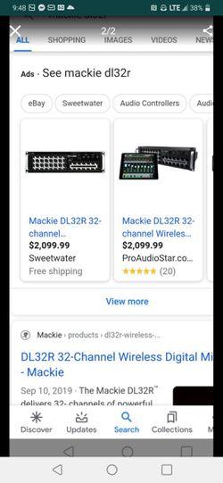 MACKIE DL32R DIGITAL MIXER 32 CHANELS Thumbnail
