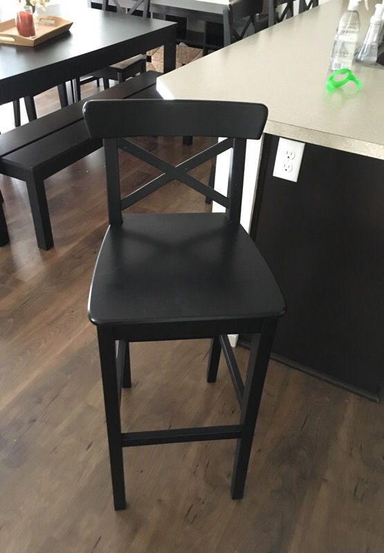 ikea ingolf bar stools black brown 2 4 stools for sale in