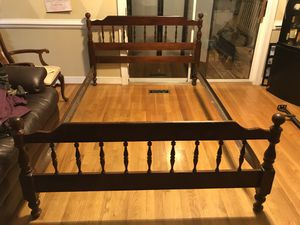 Full size solid wood bed frame for sale for Sale in Richmond, VA