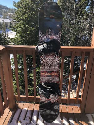 Burton Avalanche Snowboard & Boots- used 1 time:) for Sale in Las Vegas, NV