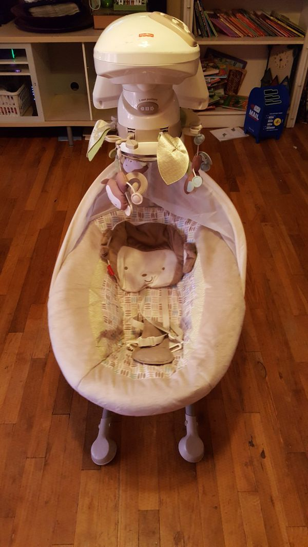 Fisher Price My Little Snugamonkey Cradle N Swing Used For Sale In Manteca Ca Offerup