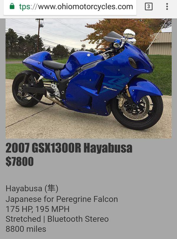 07 Suzuki Hayabusa Motorcycles In Columbus Oh Offerup