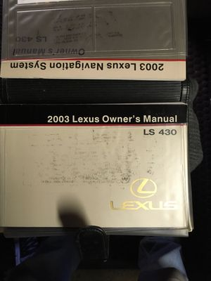 Photo 2003 Lexus LS 430 Owners manual Plus the navigation system owners manual and quick reference and the supplemental manual