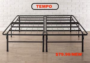 Photo Tempo Collection 14 inch High Profile Platform Smart Base Bed Frame, Queen