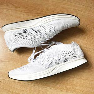 Nike Flyknit Racer white 11 for Sale in Halethorpe, MD