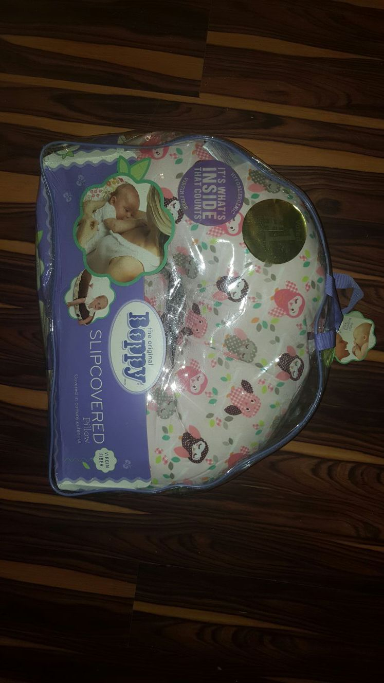 NEW Boppy Pillow with Owls covered