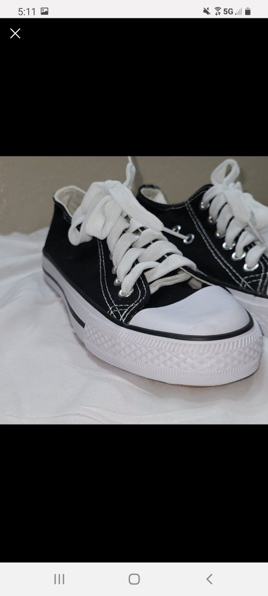 2 Pair Girls Size 5 Sneakers