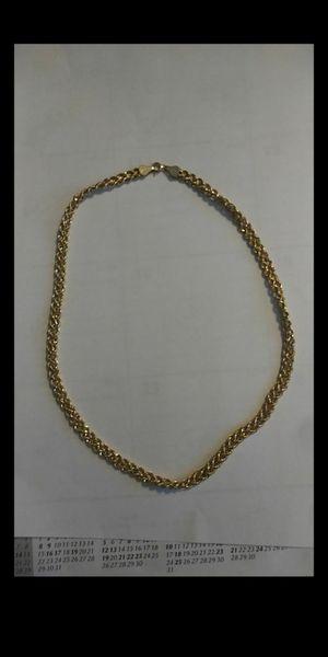 Photo 14 karat gold necklace, double chain