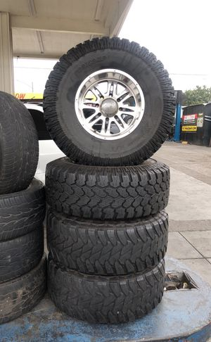 17x10 wheels and tires $750 for Sale in East Los Angeles, CA