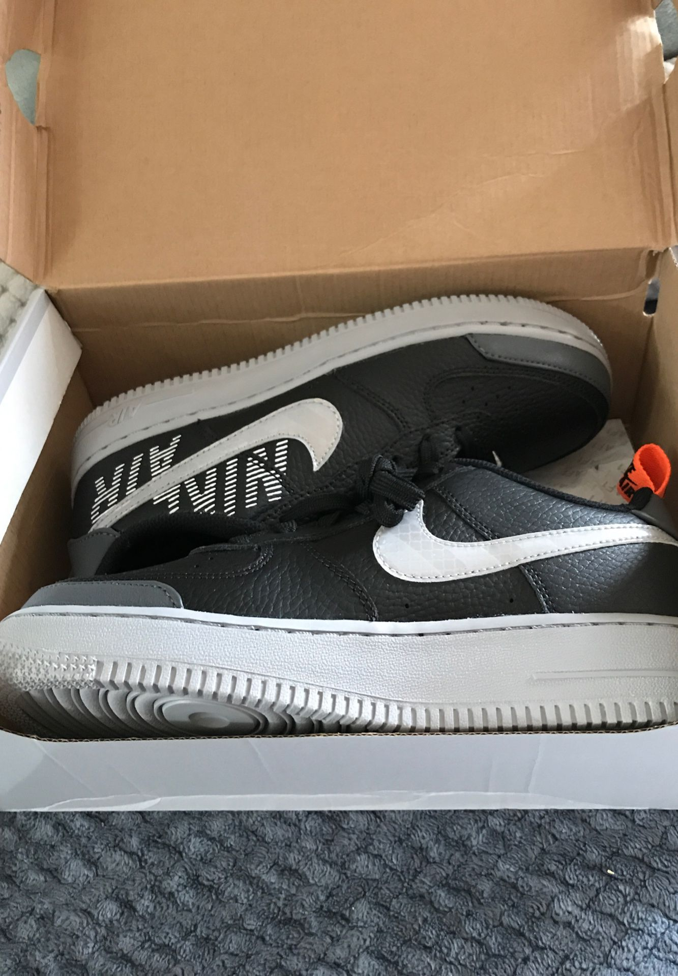 Black and Grey Air Force 1's