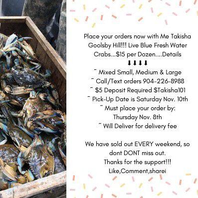 Fresh Live Blue Crabs for Sale in Jacksonville, FL - OfferUp