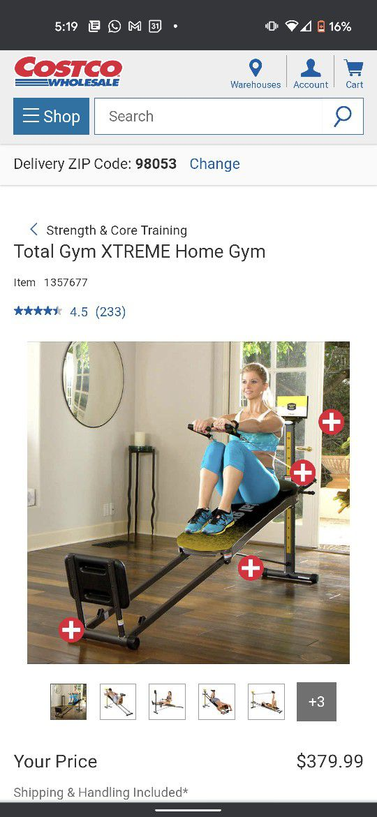 Total Gym Extreme with all Attachments