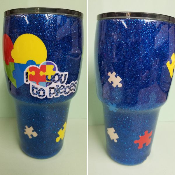defbbab3284 30oz Glitter Tumbler - Autism Awareness for Sale in Rutledge, TN - OfferUp