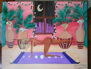 Bird Dog yoga pose original painting for Sale in Chicago, IL
