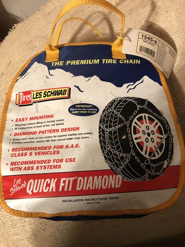 Les Schwab Quick Fit Diamond Tire Chains